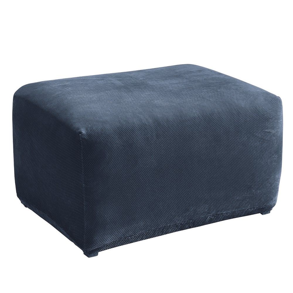 Stretch Elastic Ottoman Cover Water Repellent Footrest Stool Slipcover