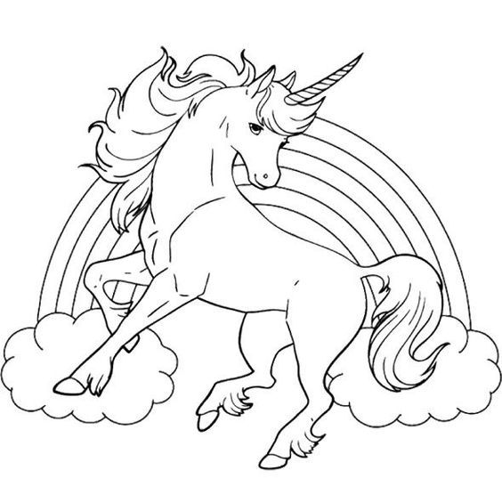 beautiful unicorn coloring pages - photo#30