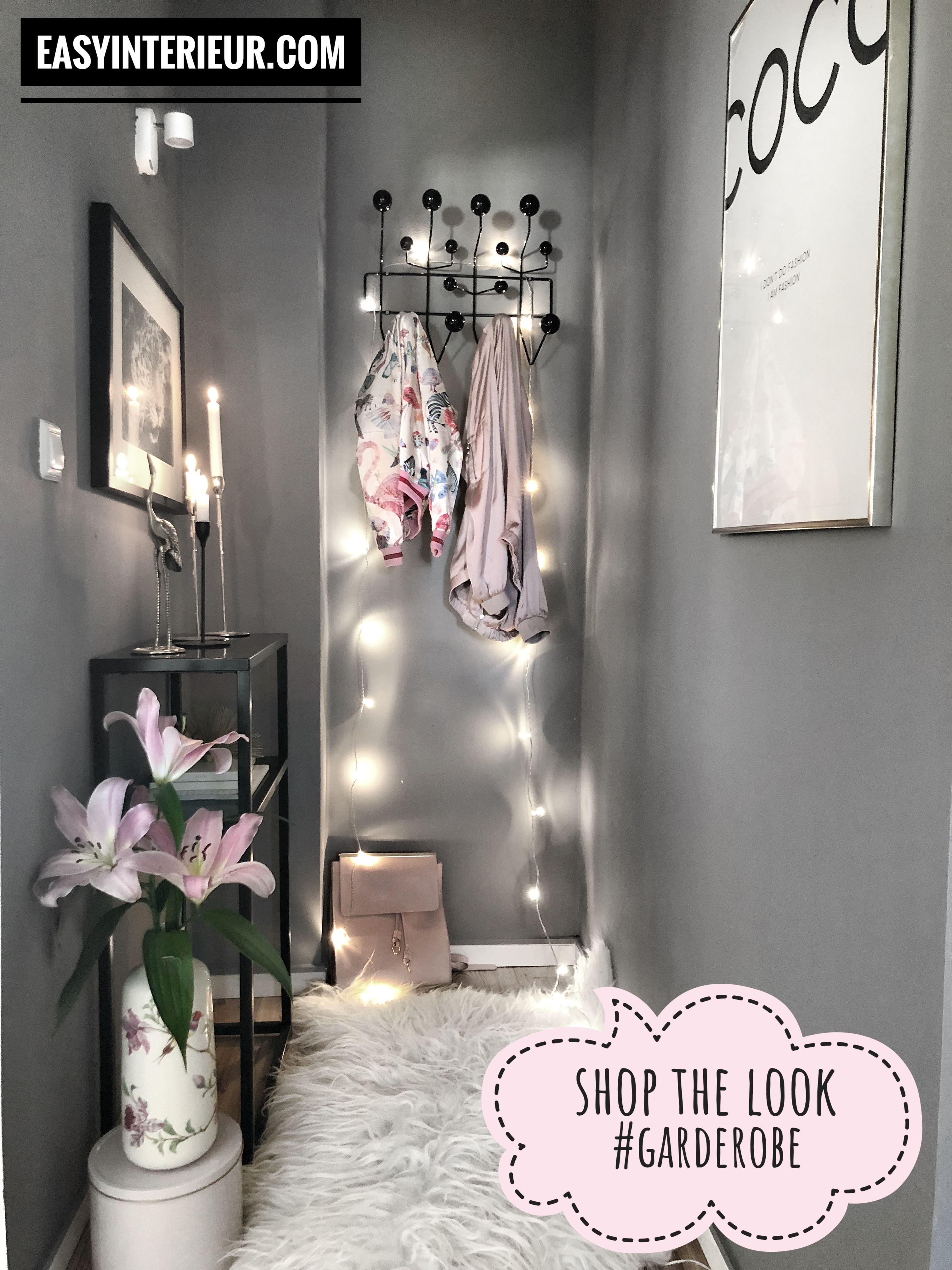 Werbung Garderobe Klein Small Flur Inspo Inspiration Lichterkette
