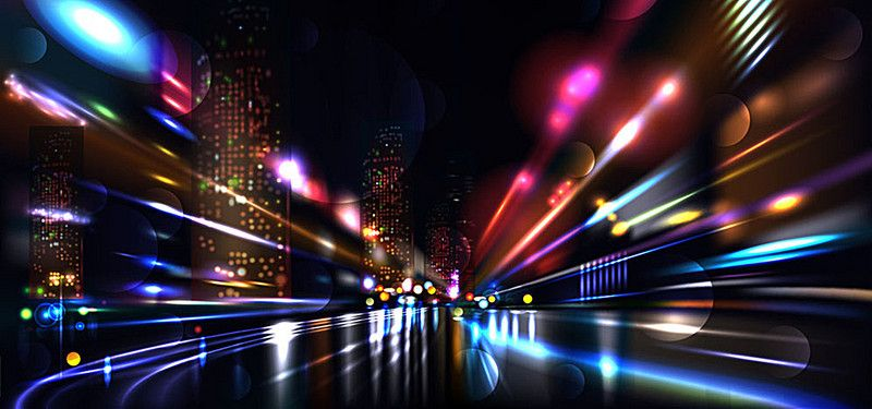 Colorful City Background Light Effect With Images City