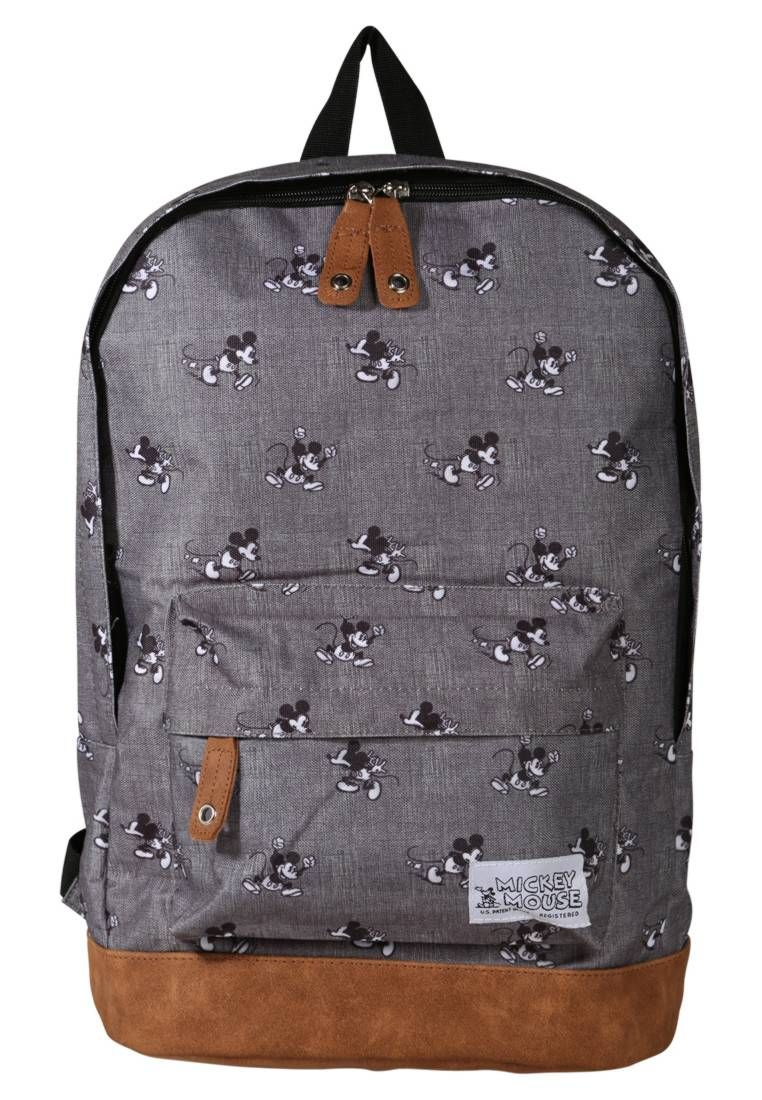 Fabrizio Mickey Mouse Rucksack Grey Pattern Print Fastening Zip Compartments Laptop Compartment Length 12 Shoulder Messenger Bag Mickey Mouse Rucksack