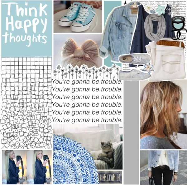 """""""Think happy thoughts."""" by heyyitskim ❤ liked on Polyvore"""