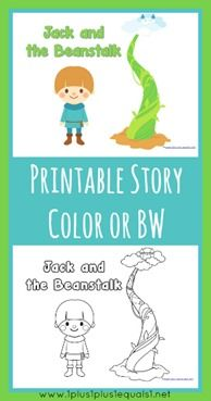 image about Jack and the Beanstalk Printable Story called Jack and the Beanstalk Printables Plans for Jacks space
