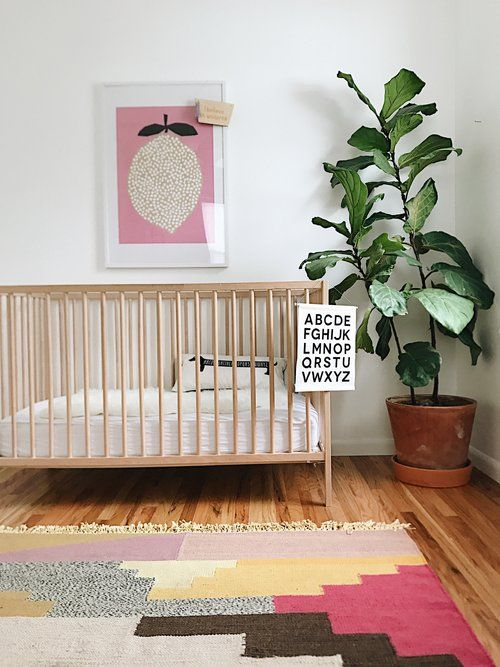 boho nursery style, alphabet banner and dachshund pillow by Parade and Company