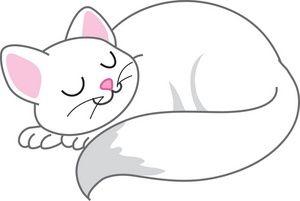 Sleeping Cat Clip Art