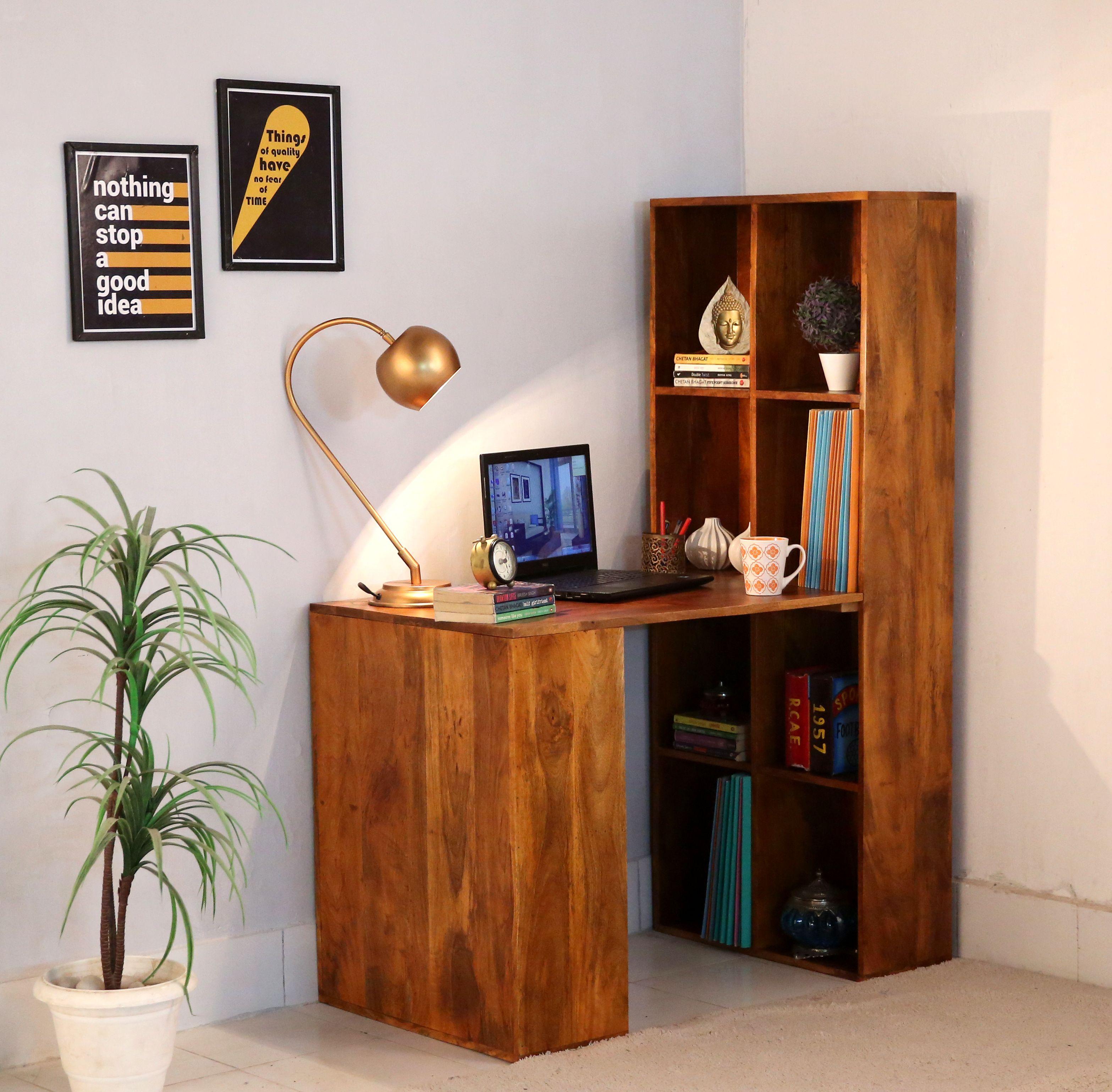 Buy Holger Foldable Wall Mounted Table (Honey Finish ...