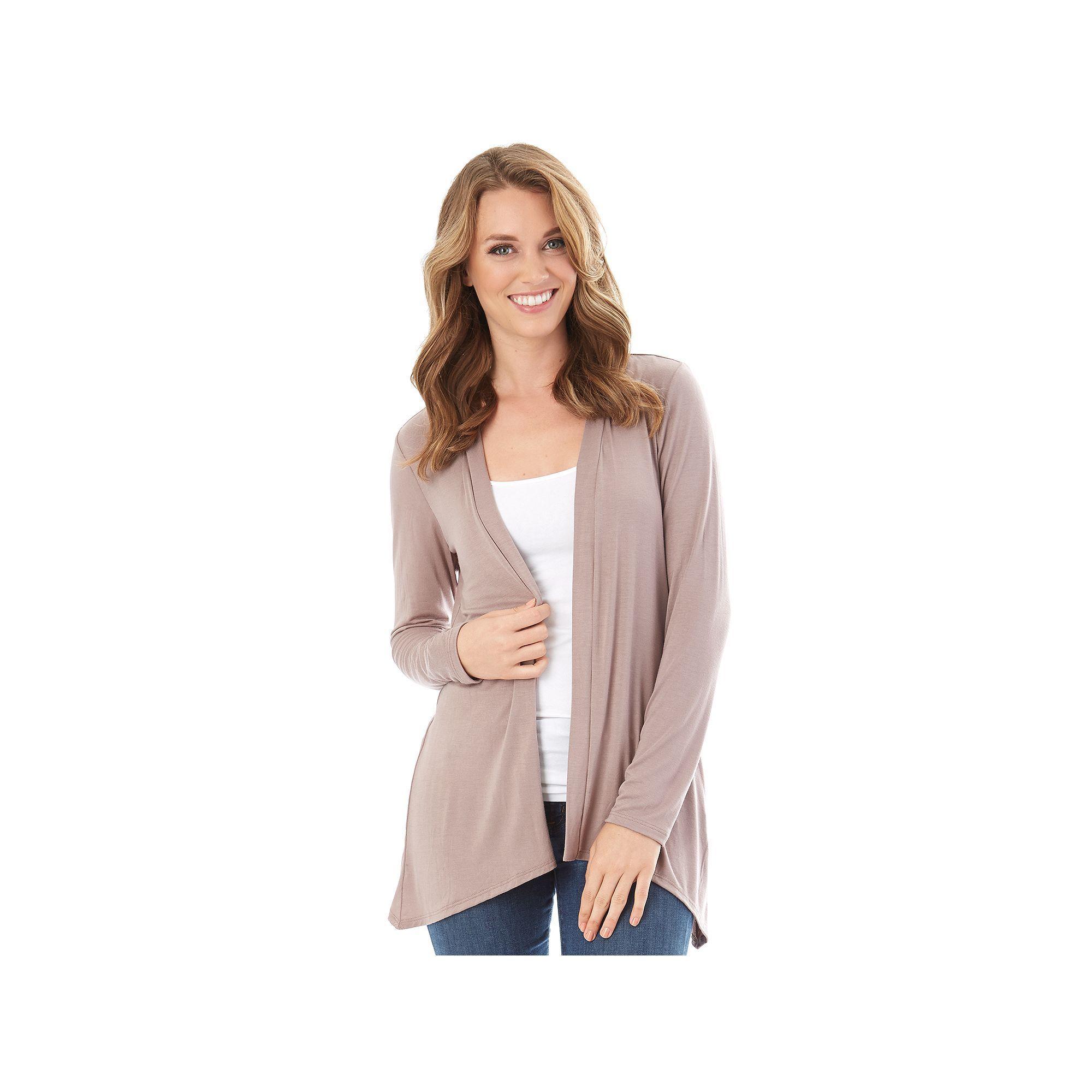 Women's Apt. 9 Lace Back Cozy Cardigan, Beige Oth | Cardigans For ...