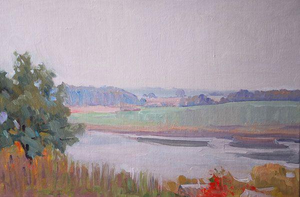 """Silence Day, oil on canvas, 30 x 45 cm, (12"""" x 18"""")"""