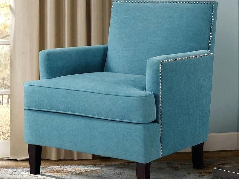 Likeable Blue Accent Chair With Arms Modern Chairs Quality