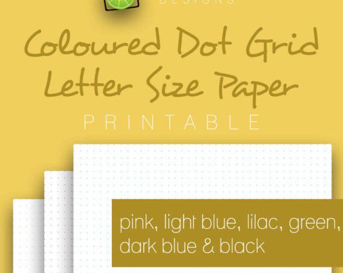 Coloured Printable Dot Grid Paper, Pink, Light Blue, Lilac, Green - printable dot grid paper