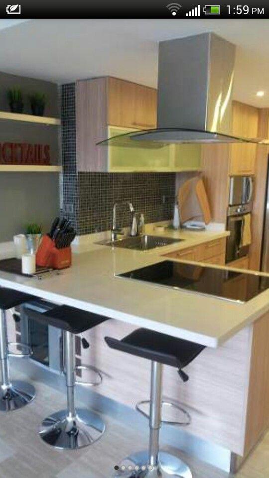 Campana tipo isla, cocina pequena | cocinas | Pinterest | Cocina ...