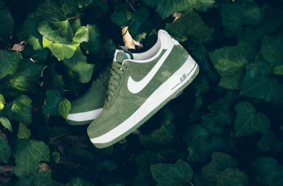 nike air force 1 palm green