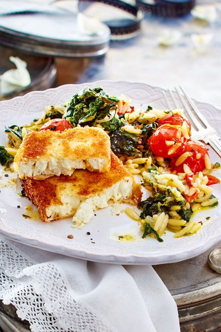 Photo of Baked feta cheese with spinach and tomato pasta Recipe DELICIOUS