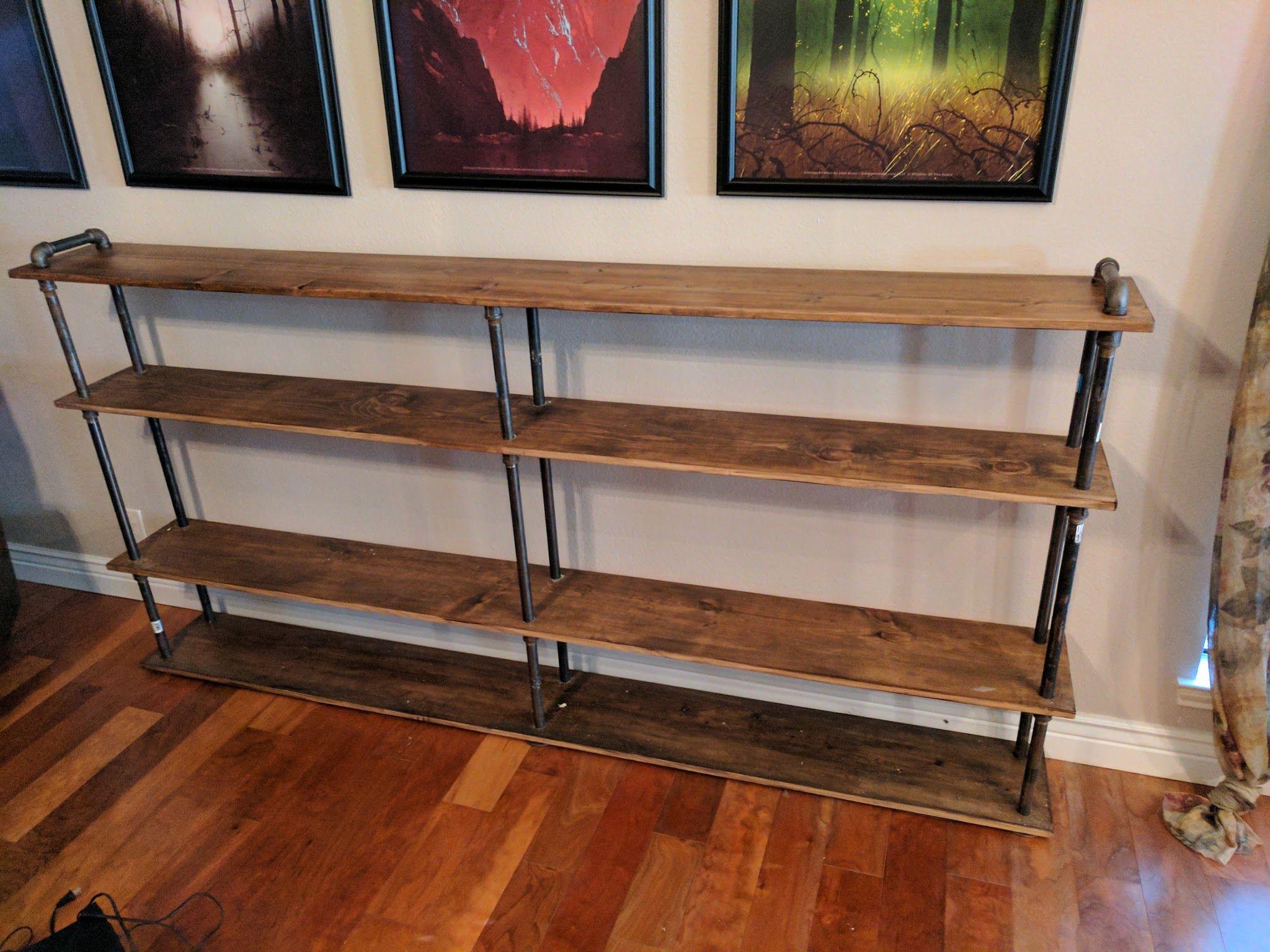 Iron/Wood Game Shelf http//ift.tt/2uPDa1O Shelves, Wood