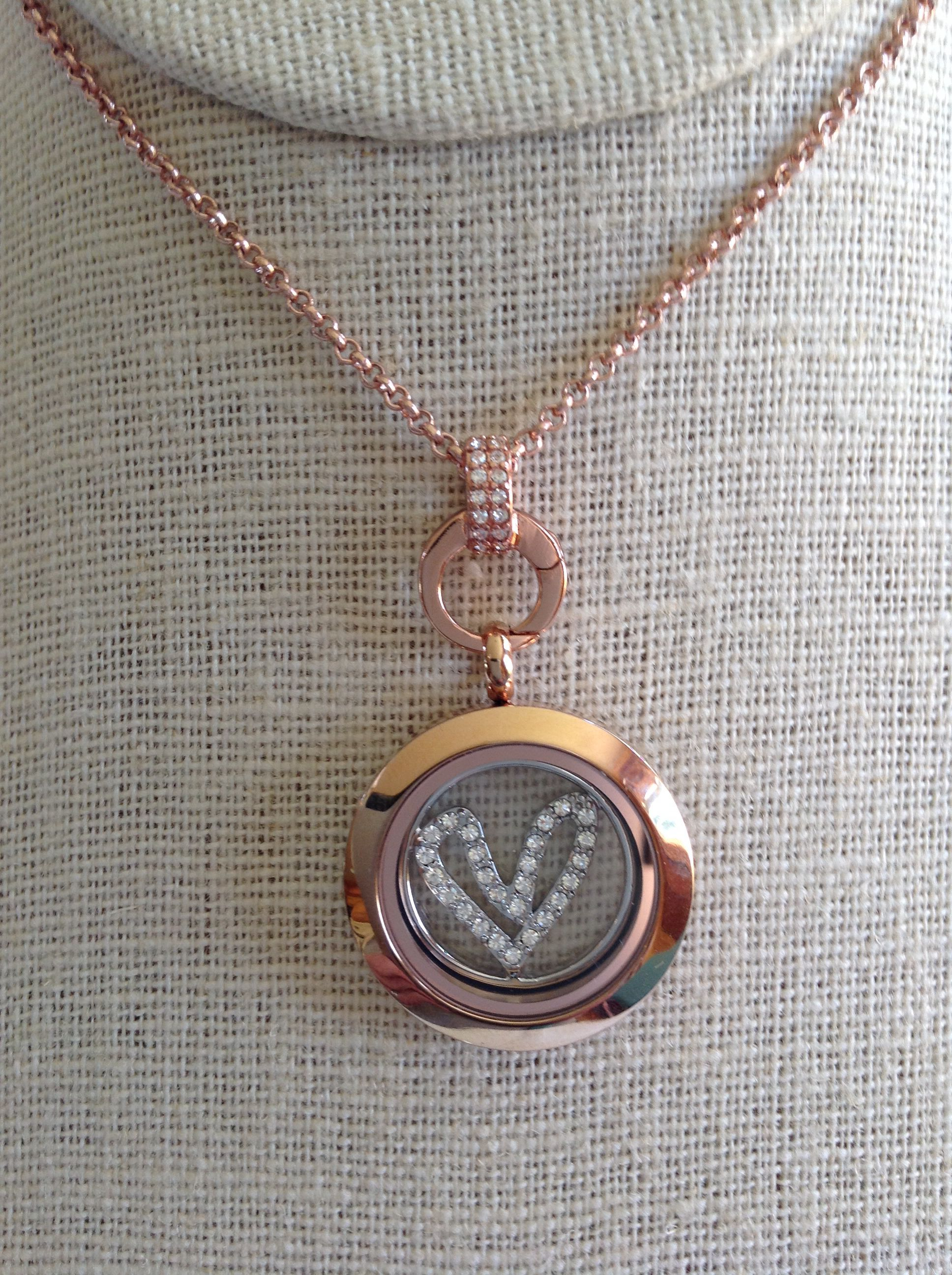 Best Origami Owl Classic Hinged Living Licket Heart In Rose Gold ...   2592x1936