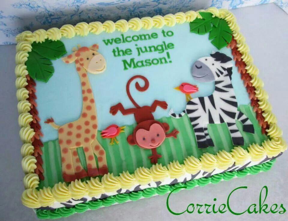 Birthday Cakes Jungle Theme ~ Zoo animals sheet cakes zoos animal and cake