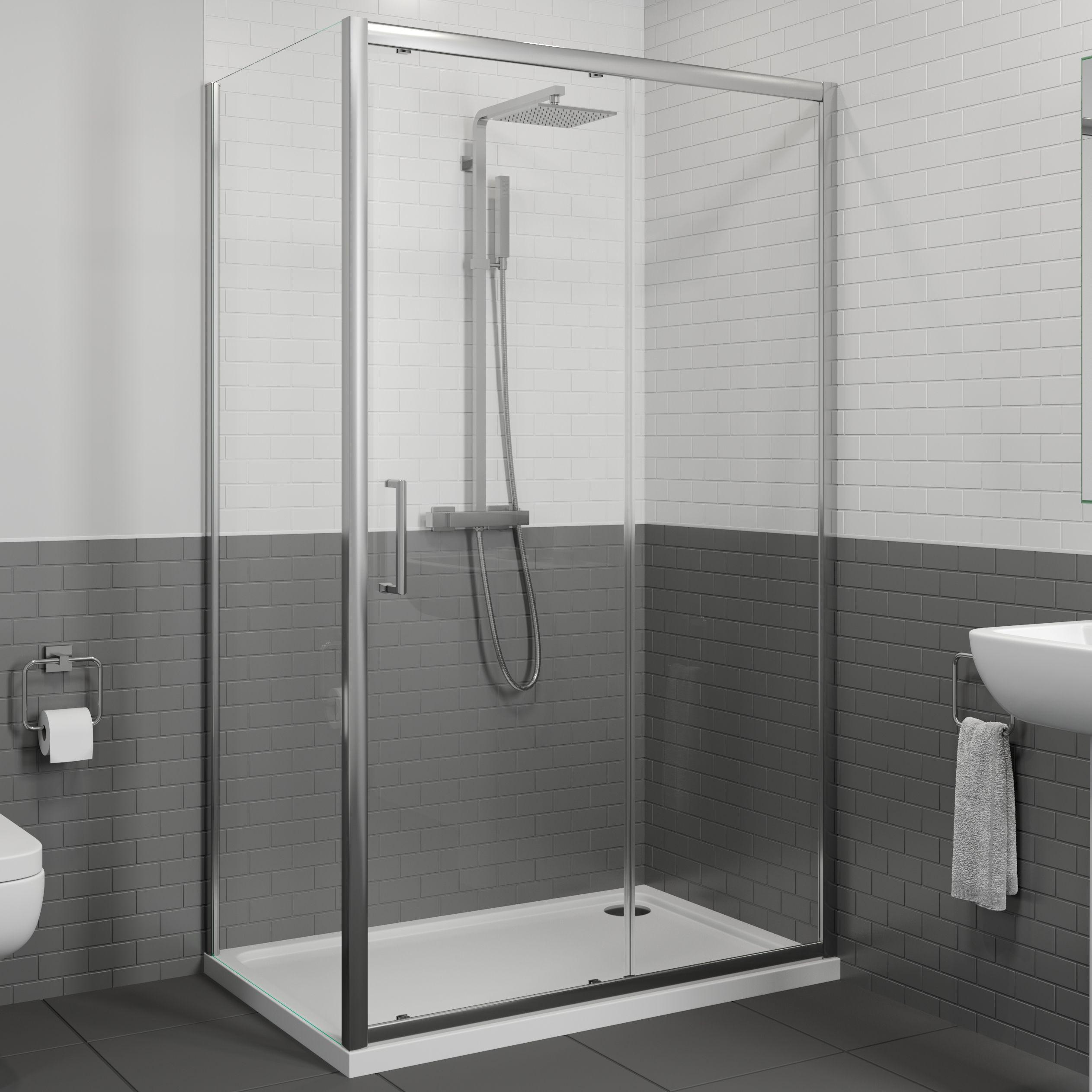 Diamond 1100x760mm Framed Sliding Shower Door Side Panel