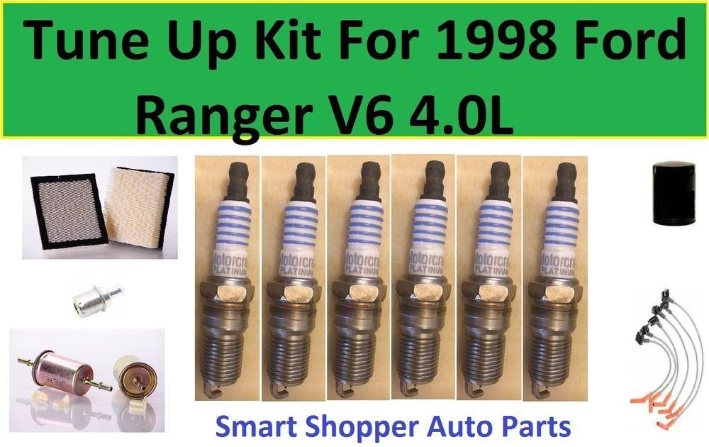 Tune Up Kit For 1998 Ford Ranger V6 4 0l Spark Plug Air Oil