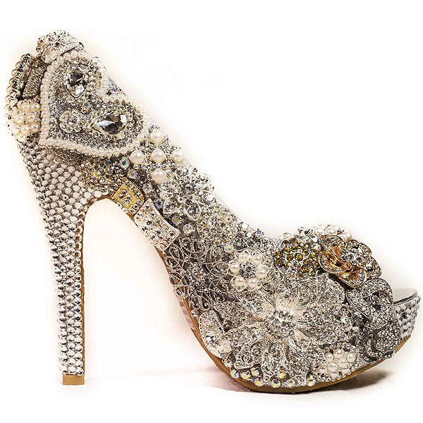 wholesale dealer 30d6e 4f076 Image result for blinged out bridal heels