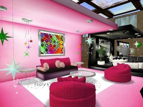 10 idee per il colore delle pareti in soggiorno - Parete Pretty Pink ...