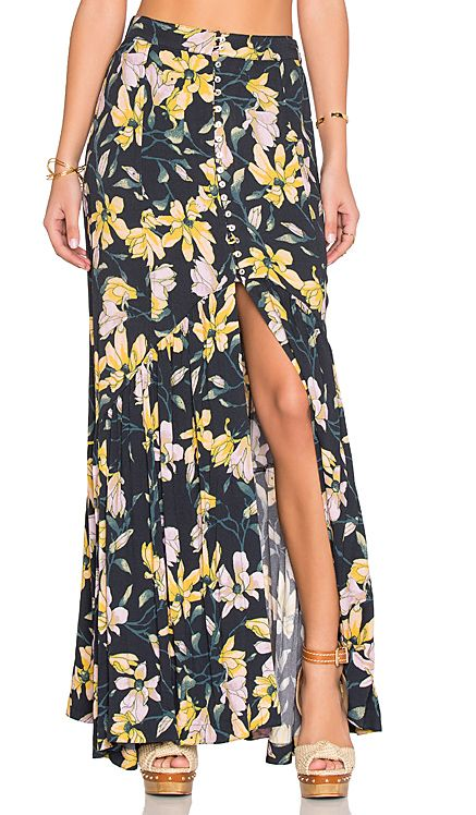 Free People Smooth Sailing Skirt in Onyx Combo | REVOLVE