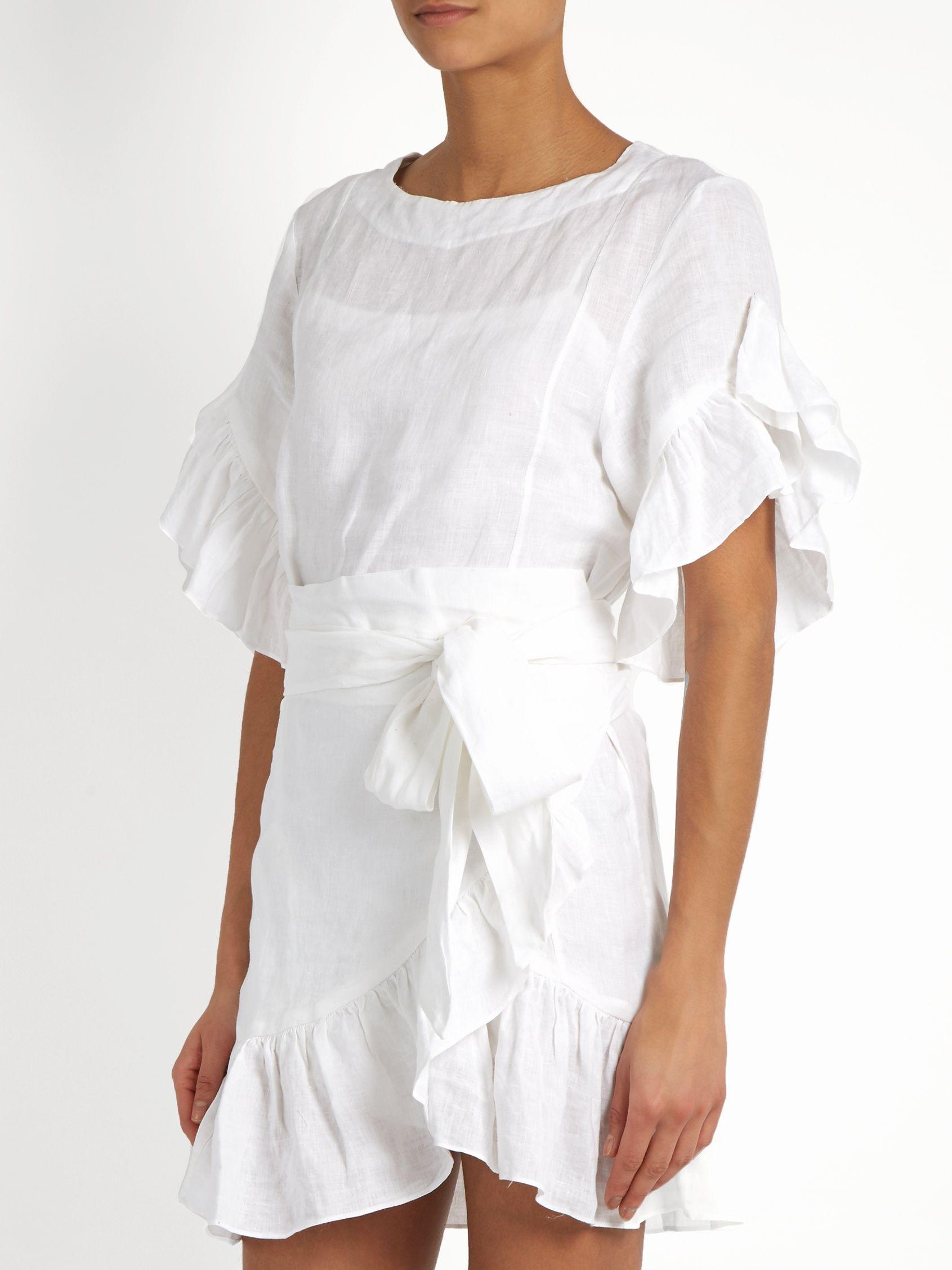 6f3cfa811b Delicia ruffled linen mini dress