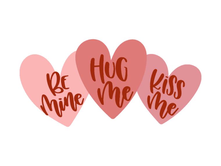 Download Free Hug me Kiss me Be mine SVG DXF PNG & JPEG | Free ...