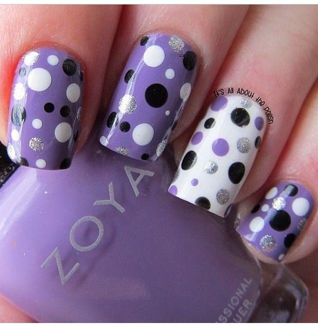 Poka dot nails Manicuras Pinterest Diseños de uñas, Arte de - modelos de uas