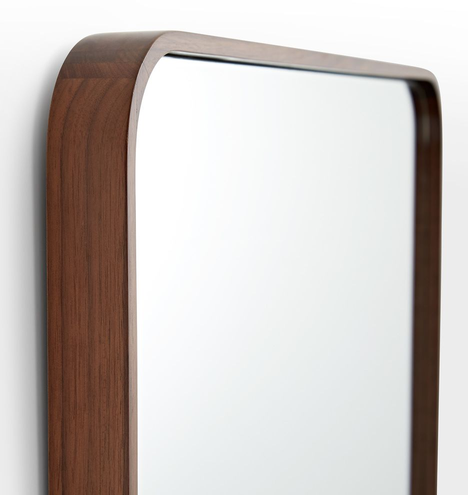 24 X 36 Solid Walnut Rounded Rectangle Mirror Rejuvenation Rectangle Mirror Floor Mirror Mirror [ 990 x 936 Pixel ]