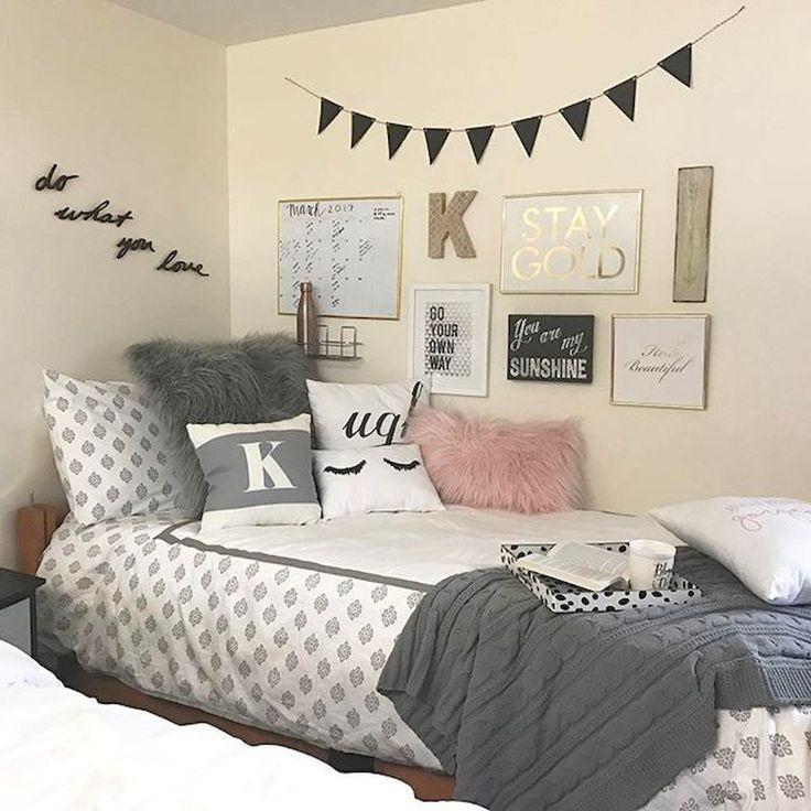 85 Beautiful Cute Diy Dorm Room Decoration Ideas Dorm Room Wall