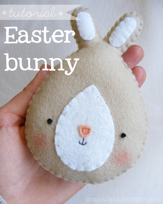 Felt Easter Bunny Rabbit - Free Tutorial and Pattern