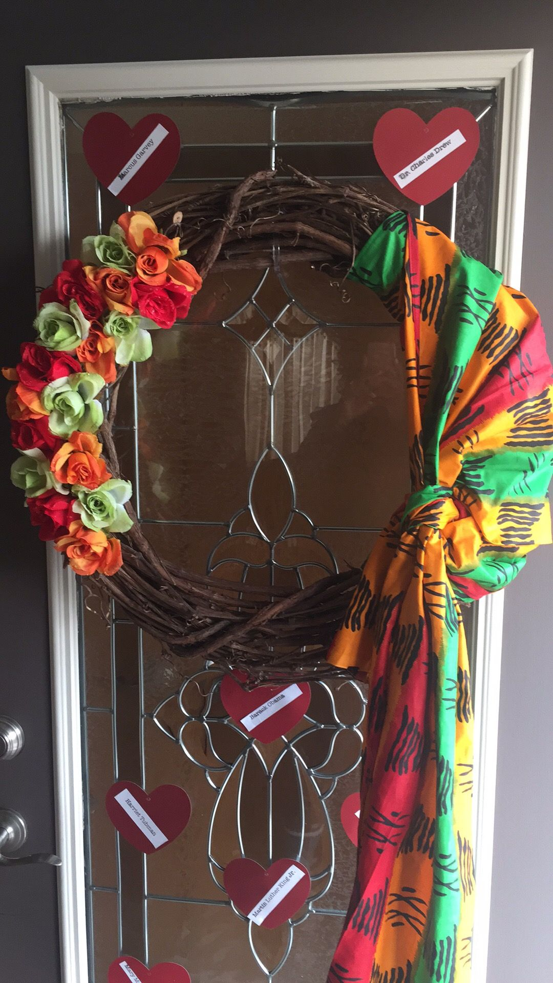 Black History Month Wreath