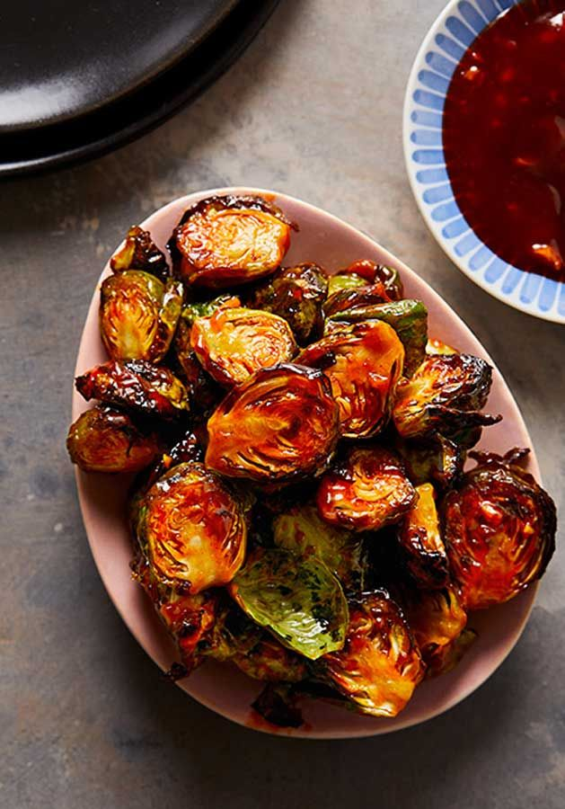 Air Fryer Brussels Sprouts With Honey Sriracha Sauce Make