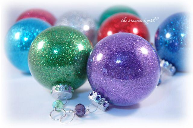 Glitter ornaments clear ornaments (Michaelu0027s or other craft store) glitter u0026 floor & Glitter ornaments: clear ornaments (Michaelu0027s or other craft store ...