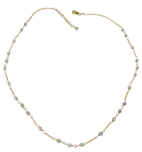 Delicate Rough Diamond Necklace Fine Jewellery,Necklaces FJ/N15 385.0000
