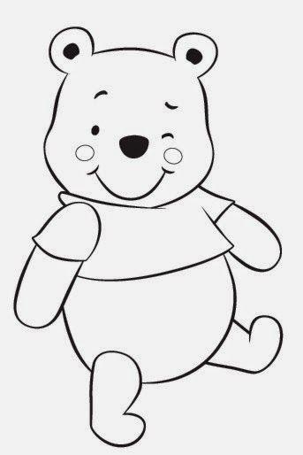Winnie the pooh: Divertida Imágen para Colorear. | Cumpleaños ...