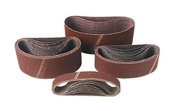 Lot de 10 bandes toile pour machine portative 75 x 510 mm Gr. 40 pour bois et métal – 75.510.040 – Leman – –