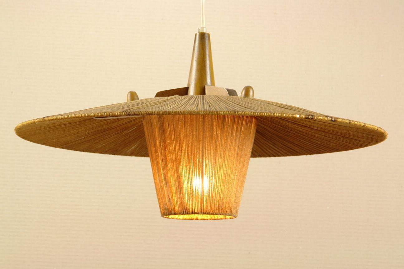 50s TIKI style pendant. 50er Jahre Stil Deckenlampe
