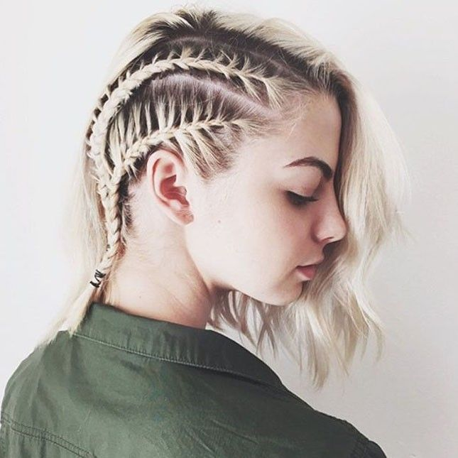 100 Of The Best Braided Hairstyles You Haven T Pinned Yet Braids For Short Hair Short Hair Styles Short Braids