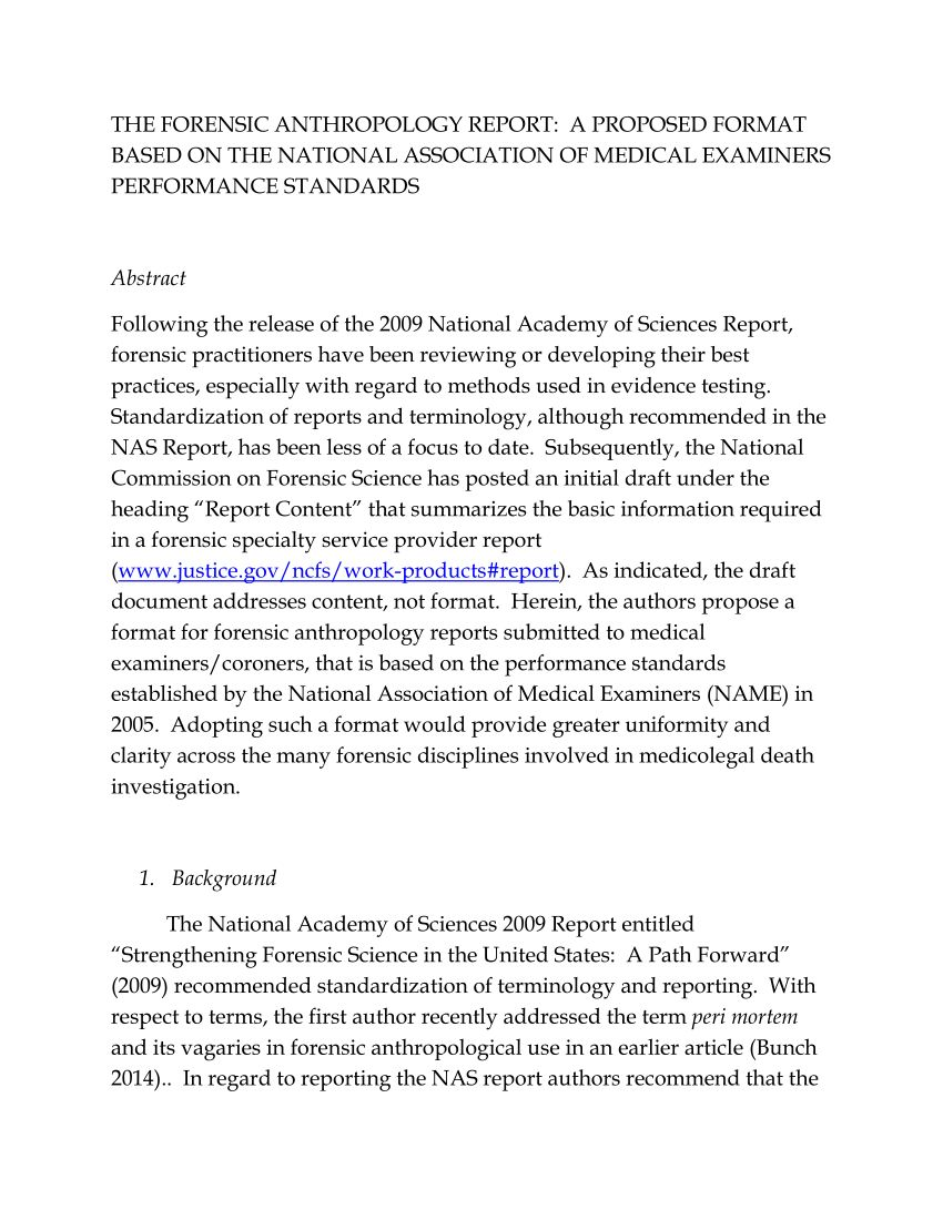 Anthropology Research Proposal Example Pdf The Forensic Throughout Report Template B Computer Dissertation Topics Topic