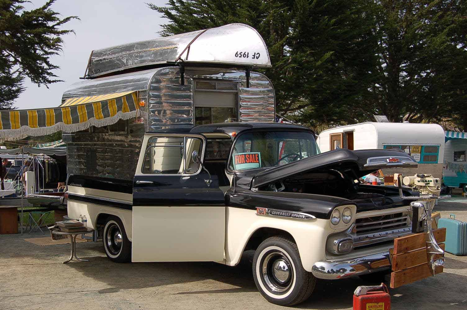 Vintage Truck Based Camper Trailers, from