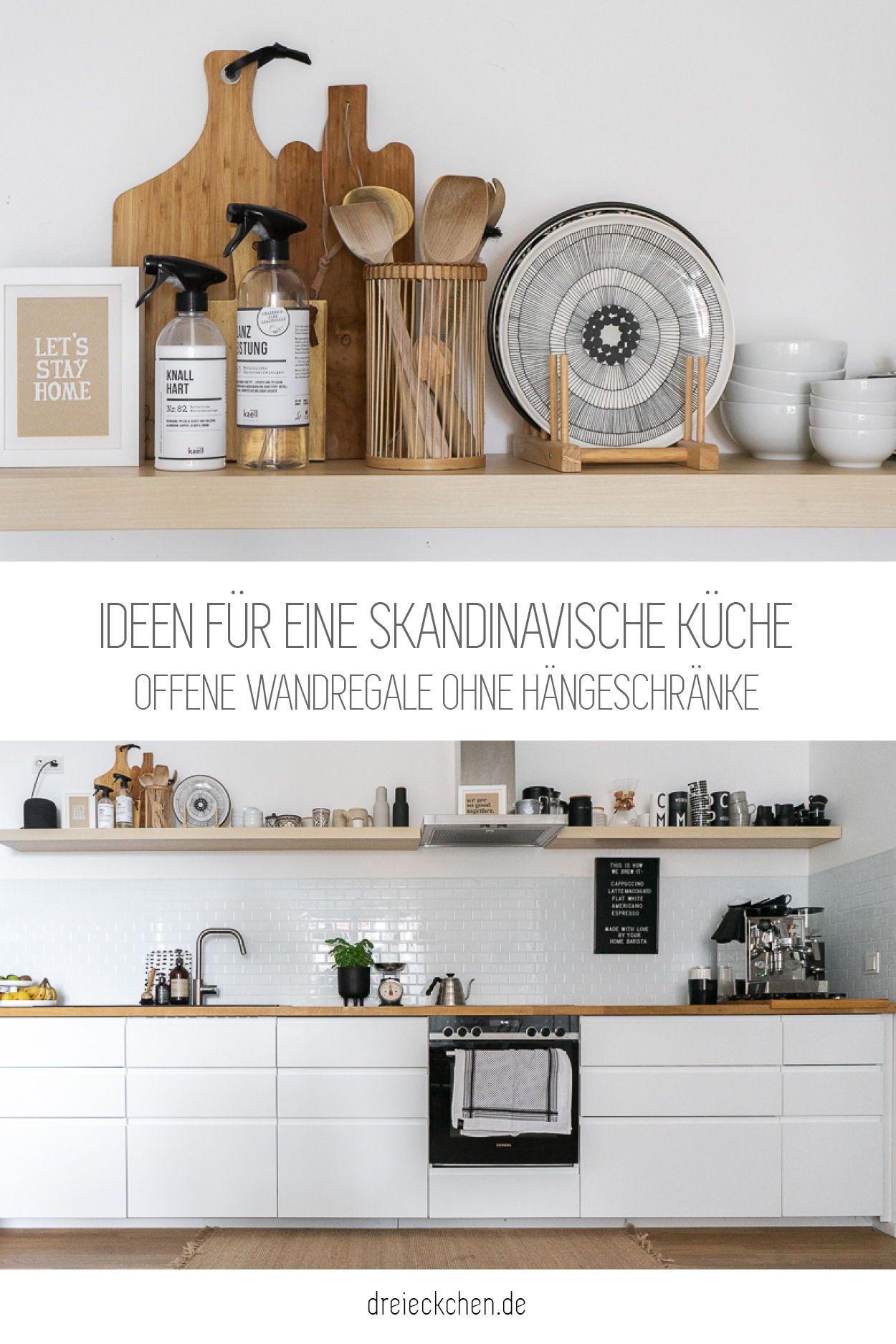 Ideen für eine skandinavische Küche   Ikea küche, Ikea regal küche ...