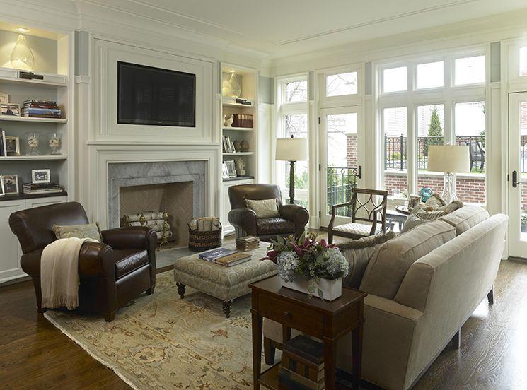 Classy And Neutral Family Room Living Room Setup Livingroom
