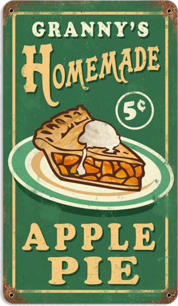american retro tin sign homemade apple pie neonreklame u schilder pinterest schilder. Black Bedroom Furniture Sets. Home Design Ideas