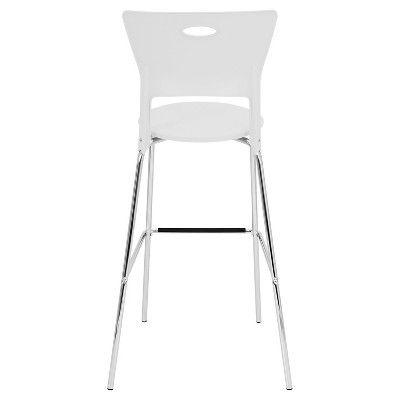 Mimi Stacker 31.5 Barstool Metal/White (Set of 2) - LumiSource