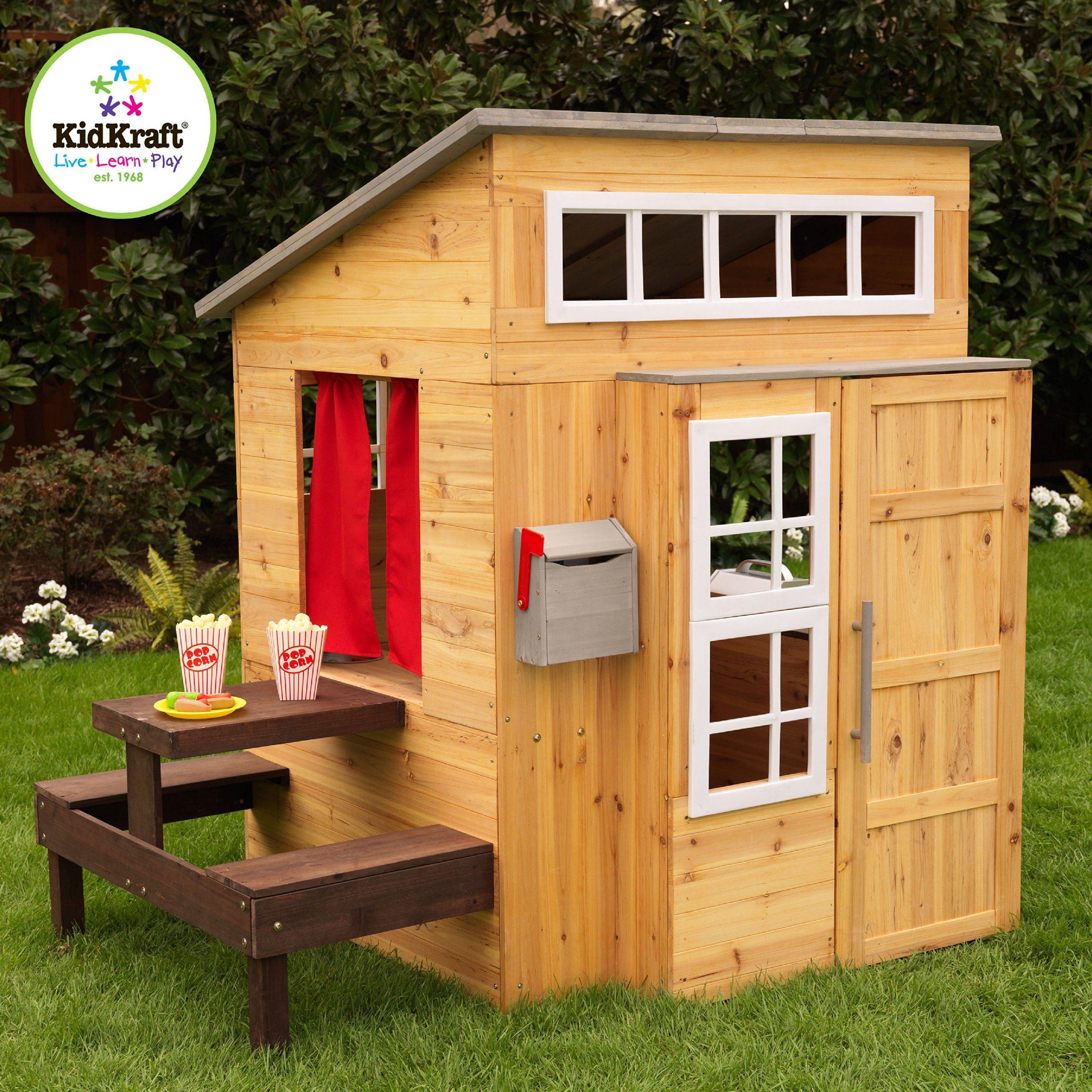 Amazoncom Kidkraft Modern Outdoor Playhouse Toys Games Rumah