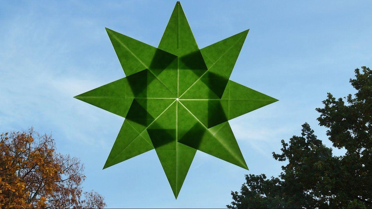 Sterne basteln zu Weihnachten / Fenstersterne falten, einfach