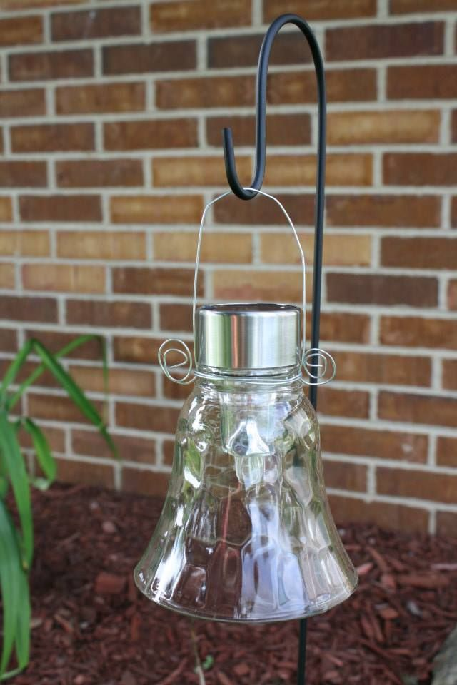 Super Easy Solar Lights For The Garden Used Globes From My Ceiling Fan Stakes And Wire