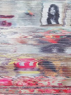 wgsn:  Stunning hand-woven pieces by Margo Wolowiec of TV screen glitches.