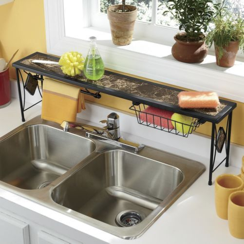 Marbleous over the sink shelf from seventh avenue for Decorer ma cuisine